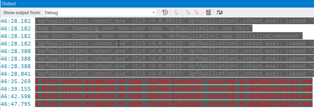 Color Output In Build And Debug Windows