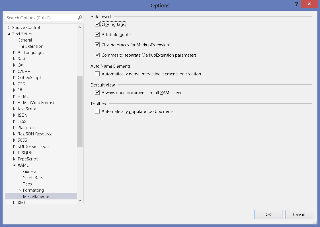Speed up the XAML editor in Visual Studio - Visual Studio Tips and